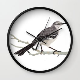 Northern mockingbird - Cenzontle - Mimus polyglottos Wall Clock