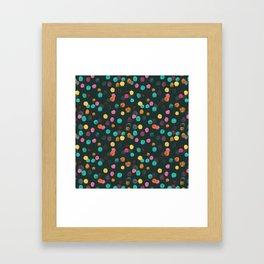 Painted Polka Framed Art Print