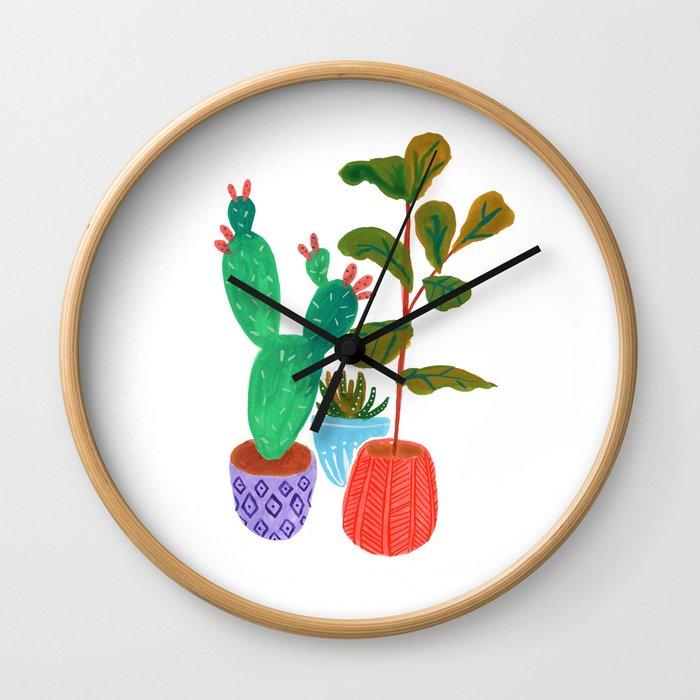Plant Life Wall Clock