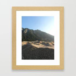 Sand and Mountains Framed Art Print