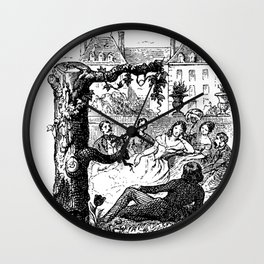 Grandville - Cent Proverbes Wall Clock