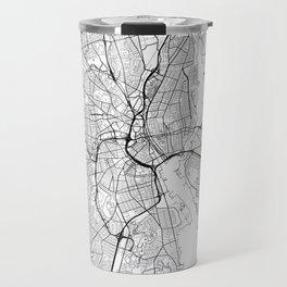 Providence Map White Travel Mug