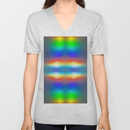 Abstract sunsets Unisex V-Neck