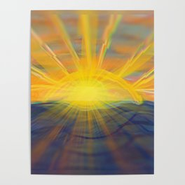 Remember to Stop and Watch the Sunset Poster
