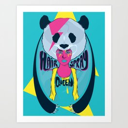 hair spray queen Art Print