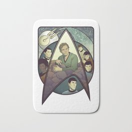 Star Trek Art Nouveau Bath Mat