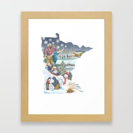 Minnesota Winter Framed Art Print
