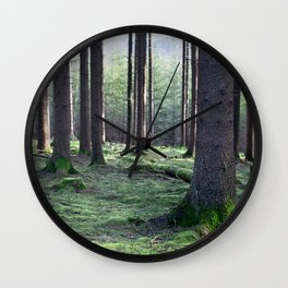 Between the trees Wall Clock