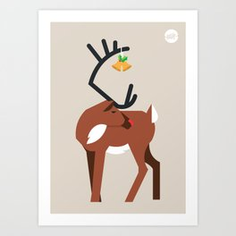 Mr. Red Nose Art Print
