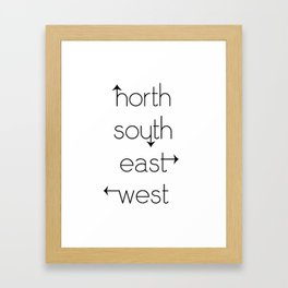 directions Framed Art Print