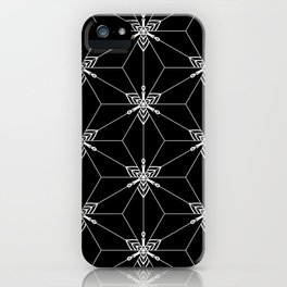 Graphic mosaic iPhone Case