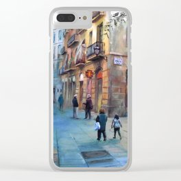 Urbanscape of Barcelona Clear iPhone Case