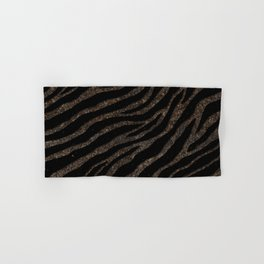 Ripped SpaceTime Stripes - Glitter Brown Hand & Bath Towel