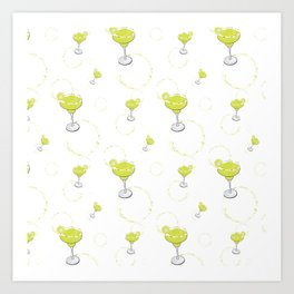 Margarita White  Art Print
