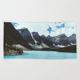 Lake Moraine landscape Beach Towel