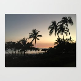 Sunset in Hapuna Beach Canvas Print