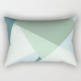 Modern abstract beach color block geometric stripes blue green pattern Rectangular Pillow