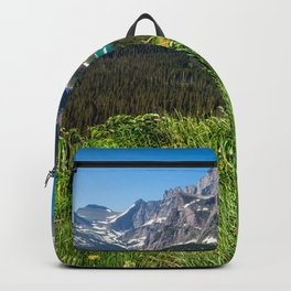 Picture USA Grinnell Lake Glacier Nature mountain park Forests Scenery Grass Mountains Parks forest landscape photography Backpack