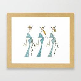 Ginette, Colette & Suzette Framed Art Print