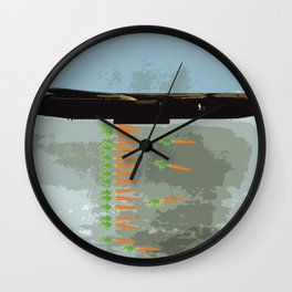 Make Soup Not War Wall Clock