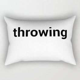 throwing Rectangular Pillow