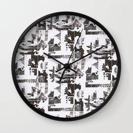 Newsprint Rose Wall Clock
