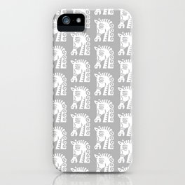 Mid Century Horse Pattern Grey iPhone Case