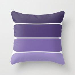 70s color palette - purple retro color scheme oval curved shapes Throw Pillow