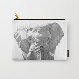 Black and white elephant illustration Carry-All Pouch