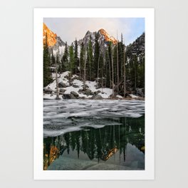 Colchuck Lake Reflection Art Print