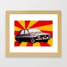 Socialist car Dacia 1300 Framed Art Print