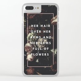 Arms Full Of Flowers Clear iPhone Case