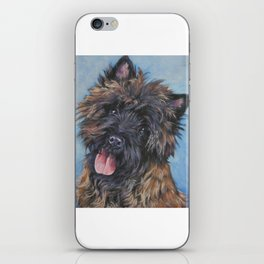 Beautiful Cairn Terrier from an original painting by L.A.Shepard iPhone Skin