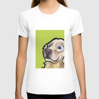 golden retriever T-shirts featuring George the golden retriever by Pawblo Picasso
