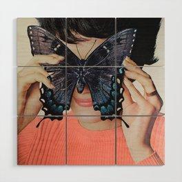 Morpho Butterfly Wood Wall Art