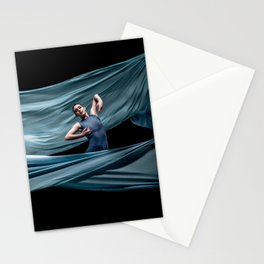 Dancing in rough blue waters Stationery Cards