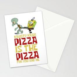Krusty Krab Pizza Stationery Cards