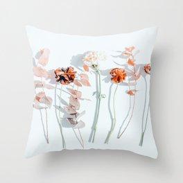 Minima #phoography #floral Throw Pillow
