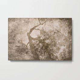 Vintage delicate tree pattern Metal Print