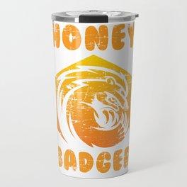 Honey Badger Animal Travel Mug