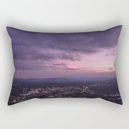 Asheville Stormy Nights Passing By Rectangular Pillow