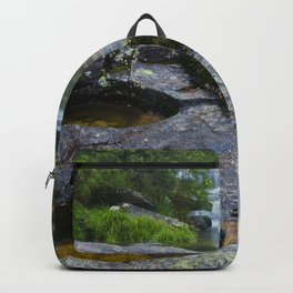 Waterfalls in wild forest Backpack