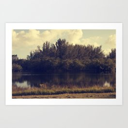 Meet Me By The Lake Art Print