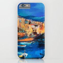 Night Colors Over Riomaggiore - Cinque Terre iPhone Case