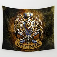 ravenclaw Wall Tapestries featuring Gryffindor and ravenclaw United team iPhone 4 4s 5 5c, ipod, ipad, pillow case, tshirt and mugs by Three Second