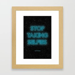 JCrafthouse Stop Taking Selfies Typography Print Framed Art Print