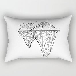 Crystal Mountains Rectangular Pillow