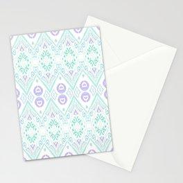Ikat Java Purple Stationery Cards