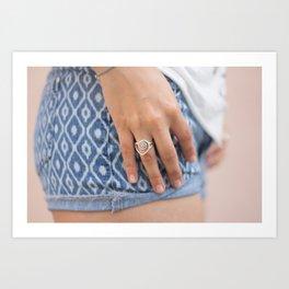 Silver Ring Art Print