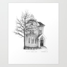 Gothic Style, Cabbagetown - Architectural Styles of Toronto Houses Art Print